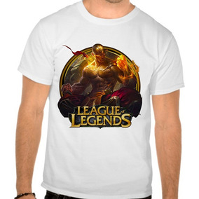 Camiseta Branca Lol League Of Legends Lee Sin Punhos