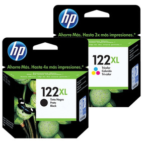 Kit Cartucho Hp 122xl Preto 122xl Color Original