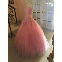 Vestido Xv Años Rosa Pastel Excelentes Condiciones Talla S