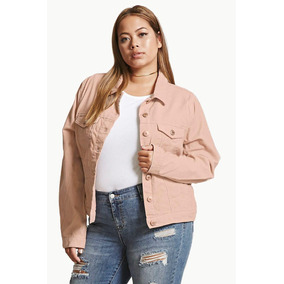 Forever 21 Campera Corderoy Rosa 1xl Plus Size Talle Grande