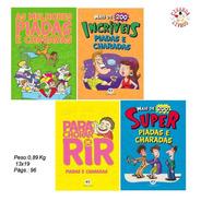 Kit Com 4 Livros De Piadas E Charadas Infantis