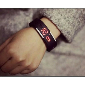 Relógio Led Digital Silicone Pulseira Bracelete