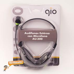 Audífonos Con Micrófono Gio Para Pc Laptop Au-300