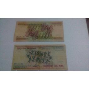 Lote De Billetes De Brasil: 10000, 5000 Y 100 Cruzeiros