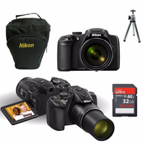 Câmera Nikon P610 16.mp 60x+64gb Class10+bolsa+hdmi+tripé