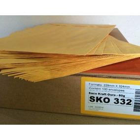 Envelope A4 (229x324mm) Saco Kraft Ouro 80g Sko 332 C/100