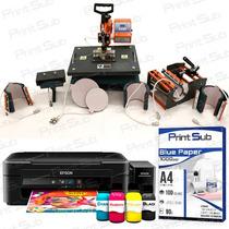 Prensa Termica 8x1 + Impressora Epson L220 Sublimatica