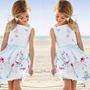 Vestido De Verano Para Niña - Manga Cero