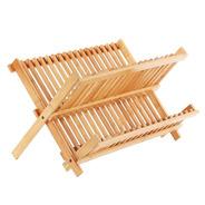 Secaplatos Escurridor De Madera Bamboo Bambu Plegable