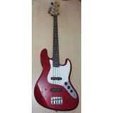 Jazz Bass Buskers, Rojo Metalico, Made In Japan (surco)