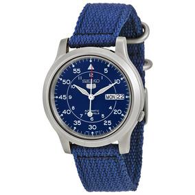 Reloj Seiko Snk807 Automatico Canvas Azul Caballero Unisex