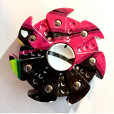 Fidget Hand Spinner Textura Neon, Pesado Hectagonal **mira**