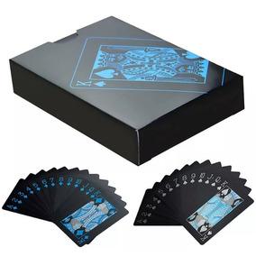 Baralho Poker Eagle Preto De Plástico À Prova D
