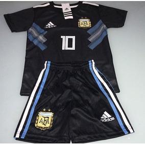 Conjunto Niño Argentina Camiseta+short Niño Suplente 2018
