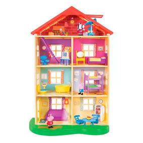 Nova Casa Da Família Peppa Pig 4 Andares Com Luz E Som Dtc