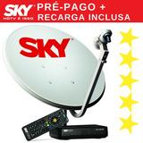 Promo Kit Antena Sky Pré-pago + 48 Canais | 8 Anos Garantia