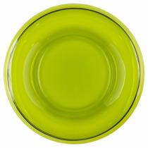 Porta Petiscos Redonda Poliéster Verde Malva Translúcido