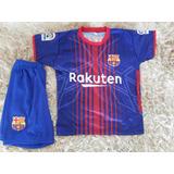 Conjunto Infantil Barcelona Barça Coutinho Camisa 0675bc32e1c5b