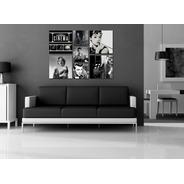 Kit 4 Quadros Para Sala Cinema Retrô 45x45 + 3 Quadros 30x30