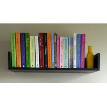 Prateleira Decorativa Livros 1,0m Mdf Preto Fabric. Própria