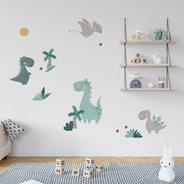 Vinilo Decorativo Infantil Dinosaurios Animales Selva