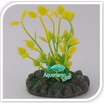 Planta Artificial Mydor Rorippa Aquatica 4cm Enfeite Aquário