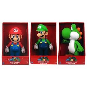 3bonecos Original Grande Super Mario Bros Collection 20-23cm