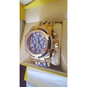 66eeb21b8ed Relogio Invicta Bolt Zeus Skeleton Dourado Azul Feminino - Relógios ...