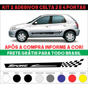 Kit Sport Faixa Lateral Adesivos Celta Prisma Frete Grátis