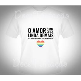 Camiseta Personalizada Lgbt Amor Gay Orgulho Gay