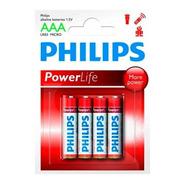 Pila Philips Alcalina Aaa Blister X 4 Pilas