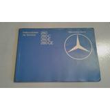 Libro-manual De Usuario: Mercedes Benz 280 Y 280 C/e/ce 1980