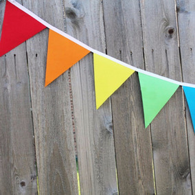 10 Metos En Banderines Decorativos Tnt