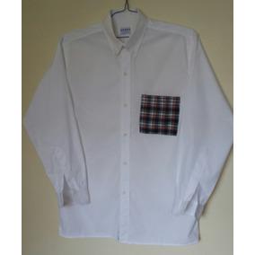 Excelente Y Moderna Camisa Blanca De Caballero Manga Larga M a2c20fe8573