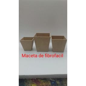 Maceta De Fibrofacil 10x10x10