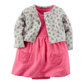 Set De Vestido Y Saco Para Bebe Niña Ropa Carter Original