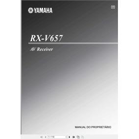 Manual Em Português Do Receiver Yamaha Rx-v657 +frete Grátis
