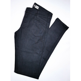 Jeans Nena Chupin Elastisado Azul Y Negrotalle 16
