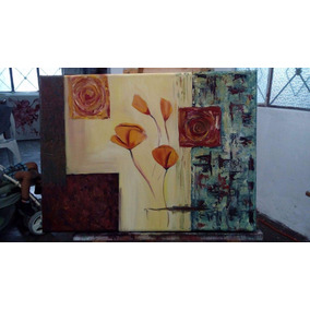 Pintura, Cuadro Al Oleo Tulipanes 68x50 Cm Para Tu Sala :)