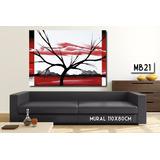 Mural 110x80 Cuadro Decorativo Abstracto Moderno Living