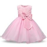 Vestido Infantil Festa Rosa Dama Aniversário Princesa Lindo