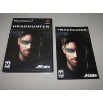 Ps2 Head Hunter Original Black Label Completo Confira!