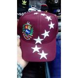 Gorras De Venezuela Vinotinto Con Estrellas Y Escudo Y/o V