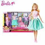 Barbie Set Fashionista Vestidos Mattel Muñecas Juguetes Niña