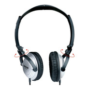 Headphone Ouvido Vokal Vh40 Silver C/ Plug P10 Profissional