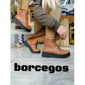 Borcegos De Dama B52 Cuero ..