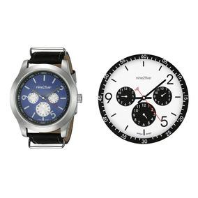 Set De Reloj De Pulso Resistant Y Reloj De Pared N2f Nine2fi