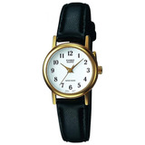 Reloj Análogo Mujer Ltp-1095q-7b - Pulso Cuero Negro