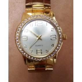 Relógio Feminino Dourado Bonito Barato Promoção