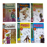 Kit 6 Coquetel Dominox, Desafio, Ferias, Cruzadox E Medio.